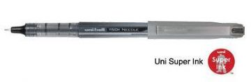 144 x UNI-BALL VISION NEEDLE POINT UB-187 ROLLER BALL BLACK
